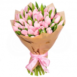 Тюльпаны розовые