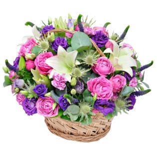 Корзина с цветами «Императрица»