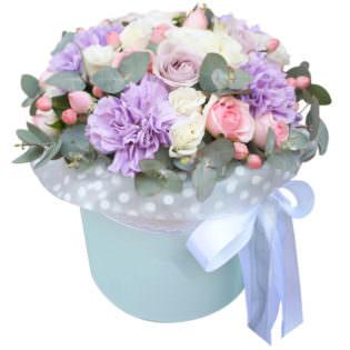 Цветы в коробке «Балерина»