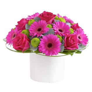 Цветы в коробке «Карамель»