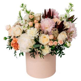 Цветы в коробке «Мечты о Париже»